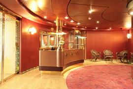 Area Bar: soffitto con pannelli, gole luminose e led.