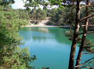 Beautiful colours at The Blue Pool, Purbeck