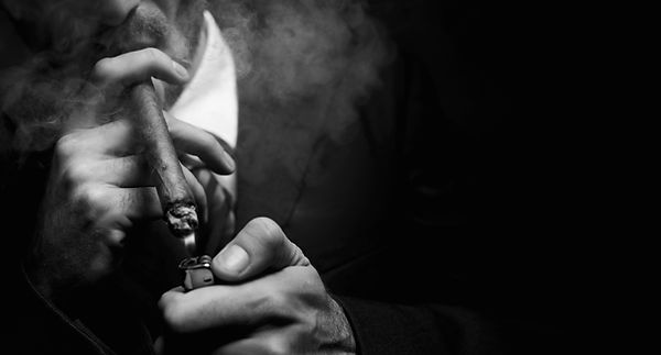 man smoking cigar, Banish Bad Habit Spells, Shadezofblack.com