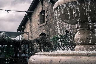 Fountain on cloudy day . . . . . #photog