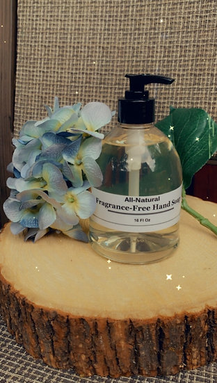Fragrance-Free Hand Soap 16 oz