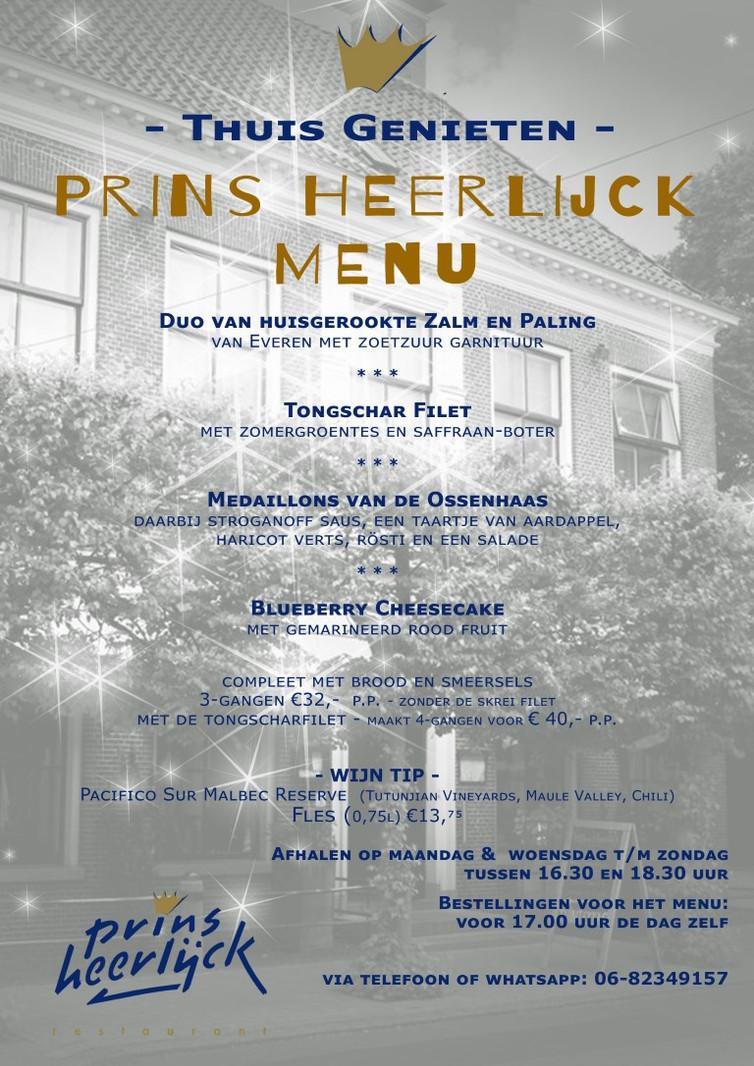 Prins Heerlijck Thuismenu