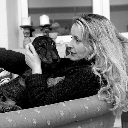 Lisa Persson Baagoe och hunden Elsa