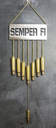 BULLET WIND CHIME .50 BMG SEMPER FI
