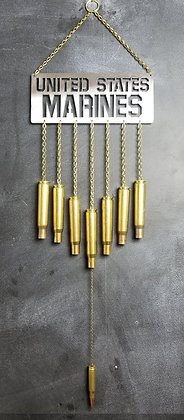 BULLET WIND CHIME .50 BMG UNITED STATES MARINES