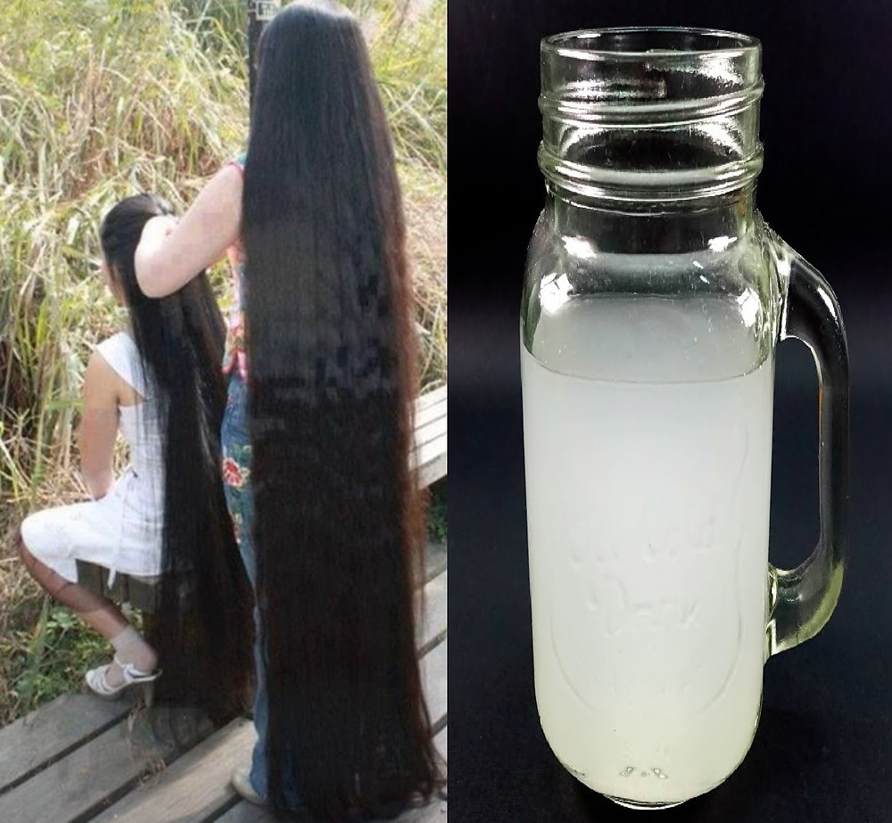 Rice water for hair (health with spices)