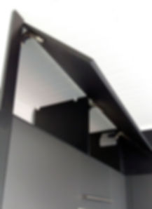 Caisson de rangement avec ouverture vers le haut