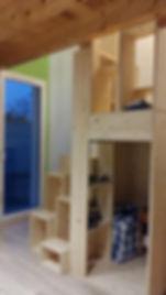 Meuble escalier mezzanine réalisé sur mesure par Régis Planes, artisan menuisier d'agencement sur Cestas 33