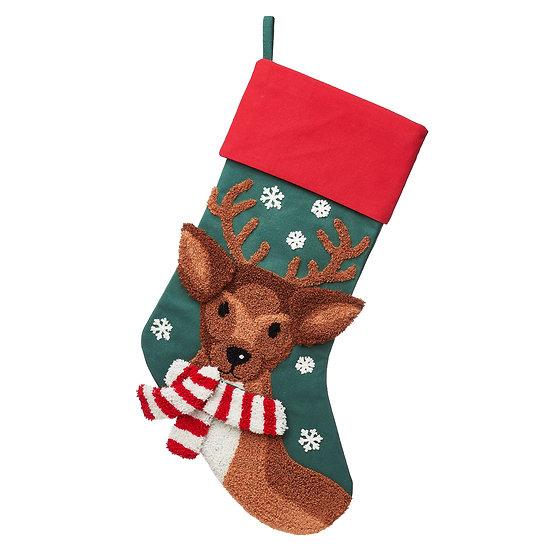 Christmas Book Box - Blitzen Reindeer Embroidered Stocking