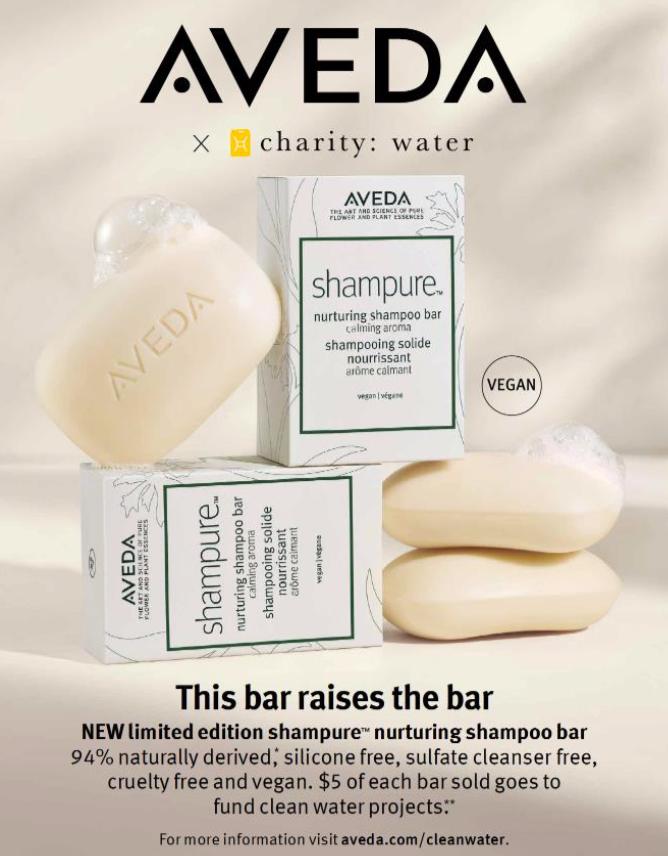 Aveda's Shampure shampoo bars