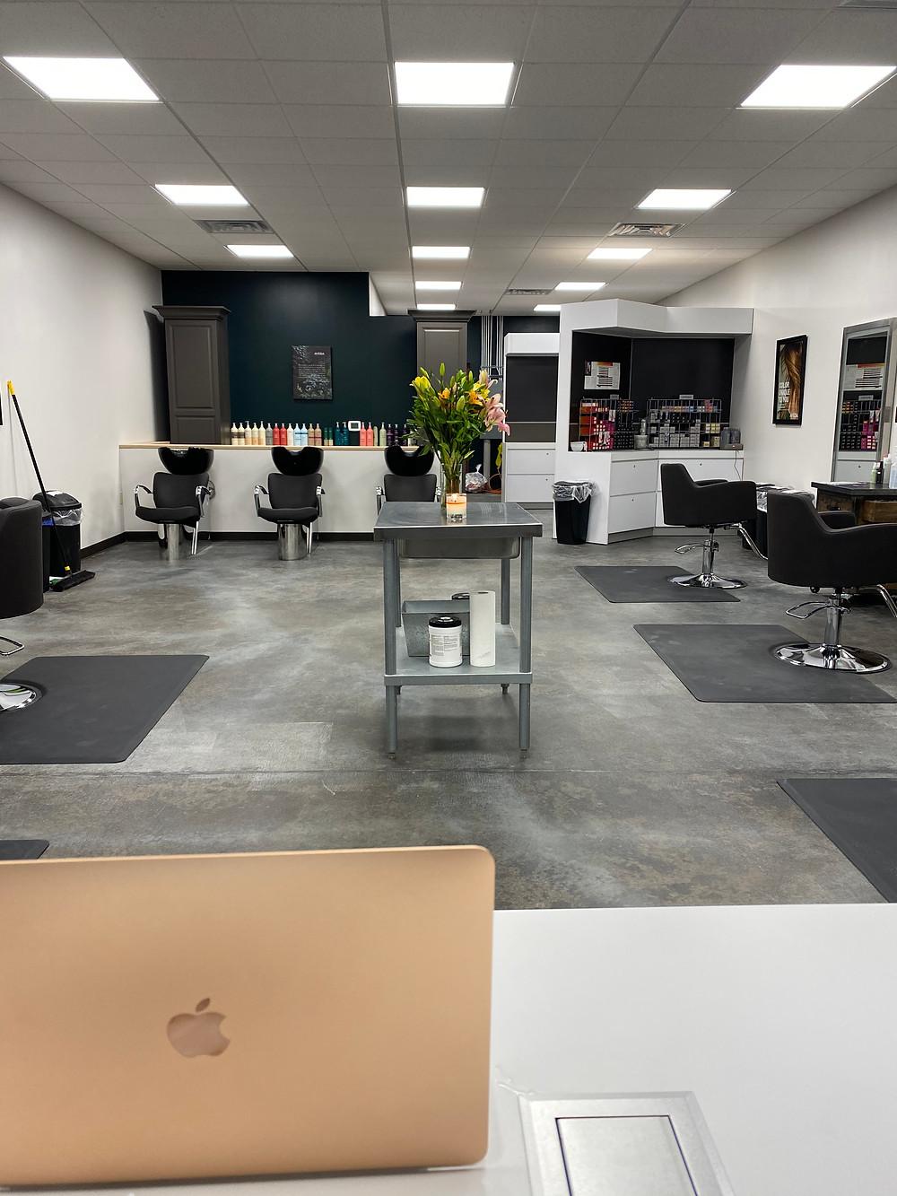 Interior of Portfolio's salon location in Bellefonte, PA