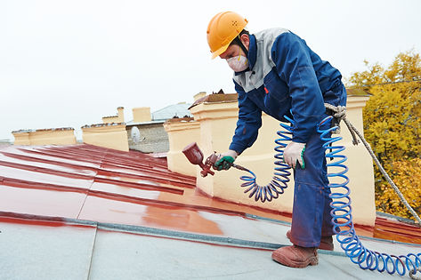 roofer builder worker with pulverizer sp