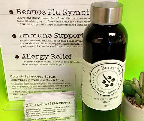 All-Natural Elderberry Syrup – 18oz Bottle