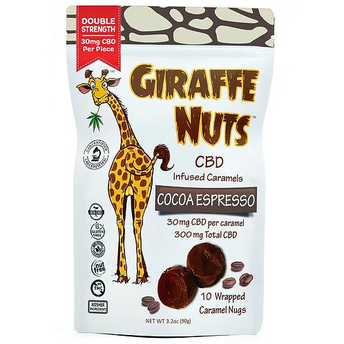 Giraffe Nuts | Cocoa Espresso | 30mg Hemp CBD per piece - 10 Pieces Per package