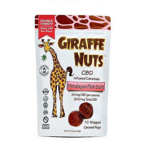 Giraffe Nuts | Himalayan Pink Salt | 30mg Hemp CBD per piece - 10 Pieces Per pac