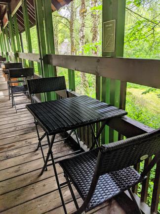 Balcony dining!