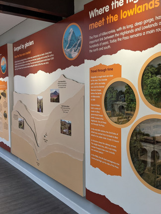 Battle of Killiecrankie and Killiecrankie geology info boards