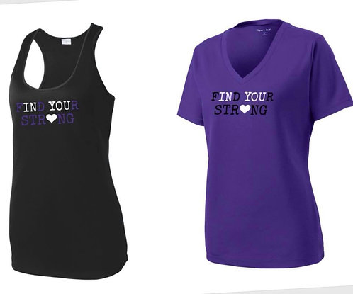 Find Your Strong V- Neck T-shirt Purple