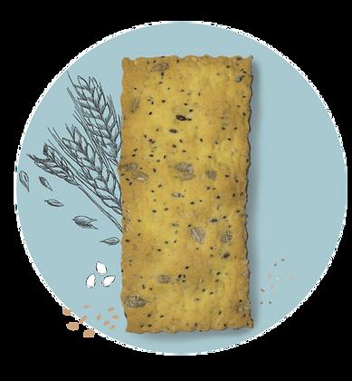 Cracker con curcuma e cereali