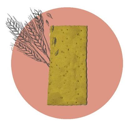 Cracker con curcuma e zenzero