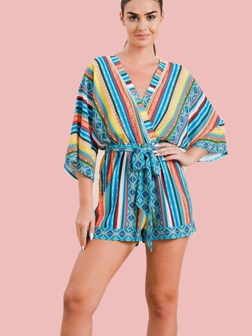 MULTICOLORED  ROMPER
