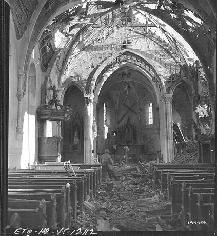 Noville Church Destroyed - National Arch