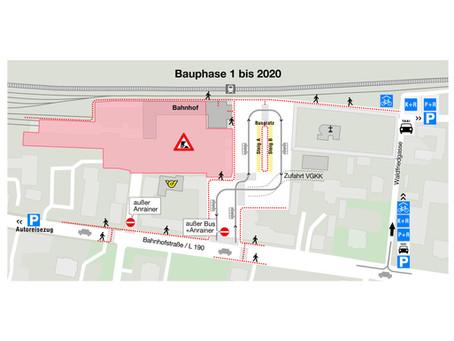 8. März - Baubeginn - Informationen zur Organisation des provisorischen Bussplatzes
