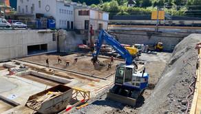 2. Bauetappe - Baufortschritt August 2020