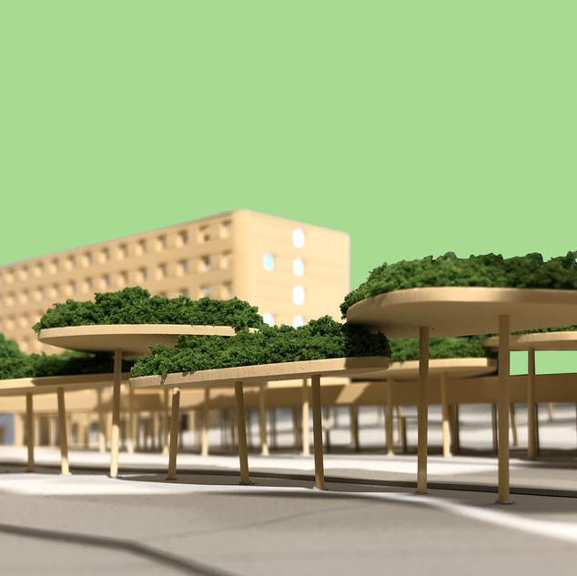 Bahnhofcity Feldkirch | Holzmodell