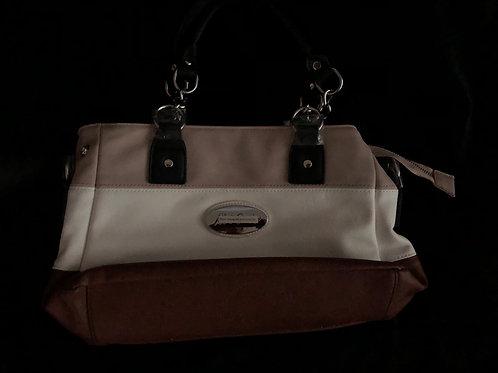 Alfred Durante Astoria Stripe Faux Leather Satchel Handbag by The Bradford Excha