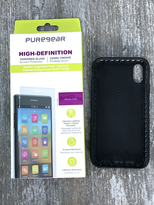 iPhone XR case and screen protector bundle
