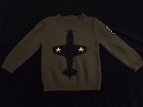 Gap factory boys 4T airplane sweater