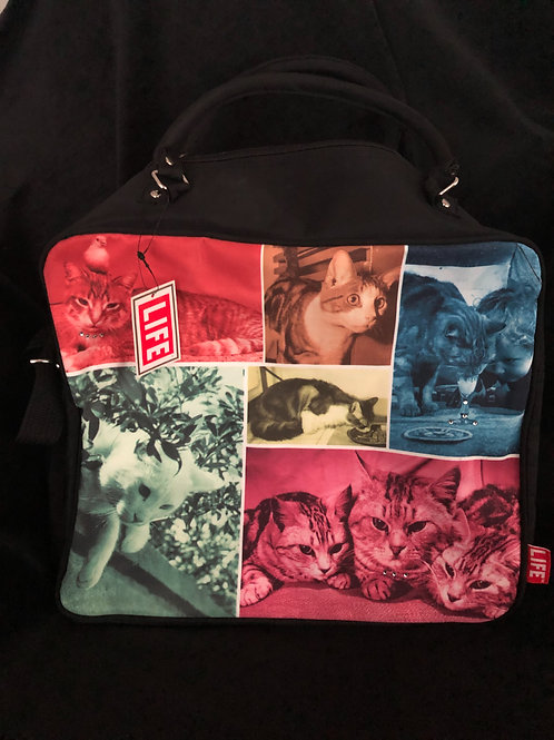 """""""LIFE"""" Cat Collage Woman's Tote Bag"""