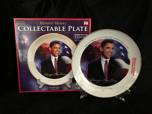 Historic Victory Barack Obama Collectable Plate