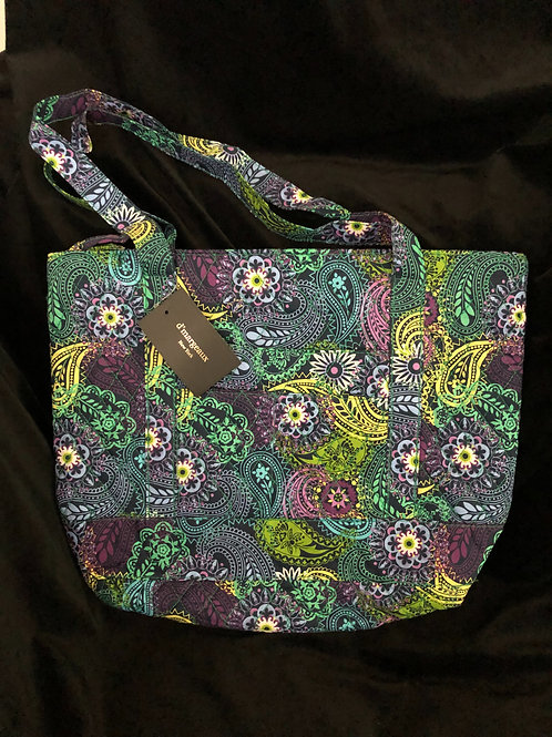 D'Margeaux Picadilly Paisley Quilted Cotton Small Bag / Purse ~NWT~