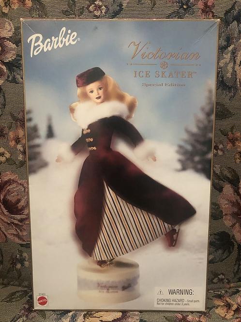Mattel 2000 Victorian Ice Skater Blonde Barbie