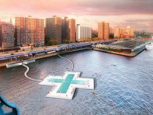 Nova York receberá piscina flutuante