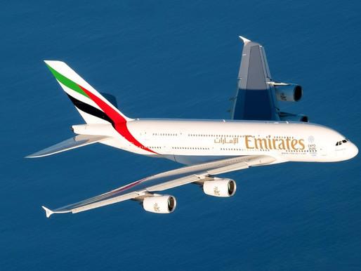 Emirates voltará a voar com o A380 para São Paulo a partir de outubro