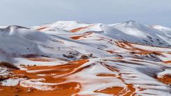 Neve no deserto do Saara