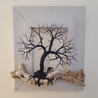 Framed Driftwood Tree $130