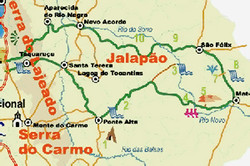 Mapa Parque Estadual do Jalapão - TO