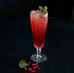 Partridgeberry Rose Kombucha Cocktail