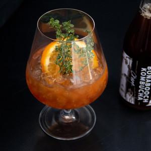 Dark n' Stormy Kombucha Cocktail