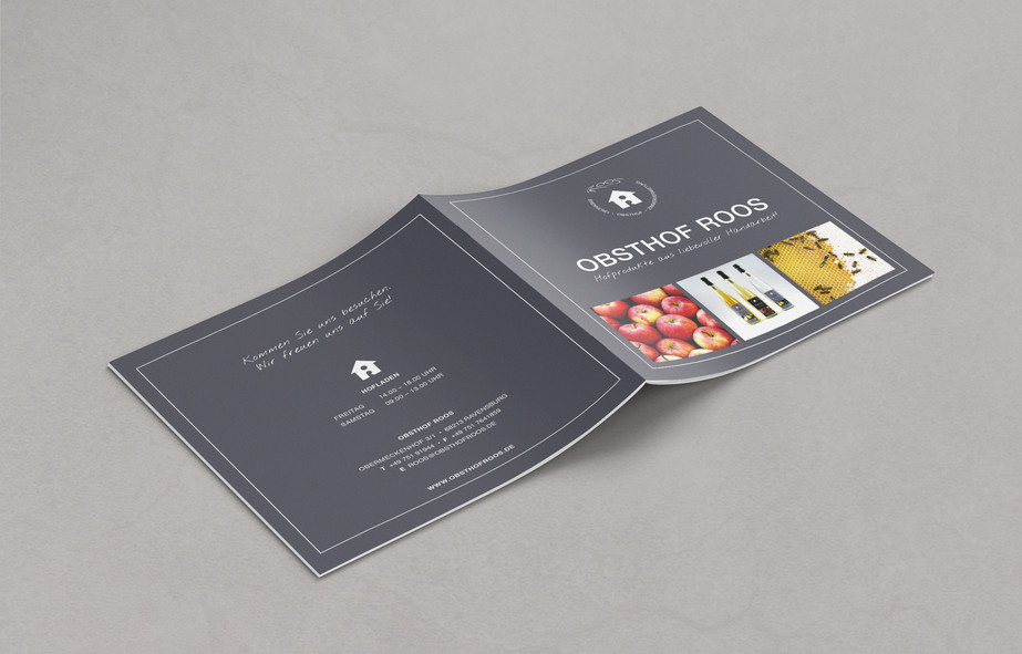 Editorial design Broschüre Rückseite