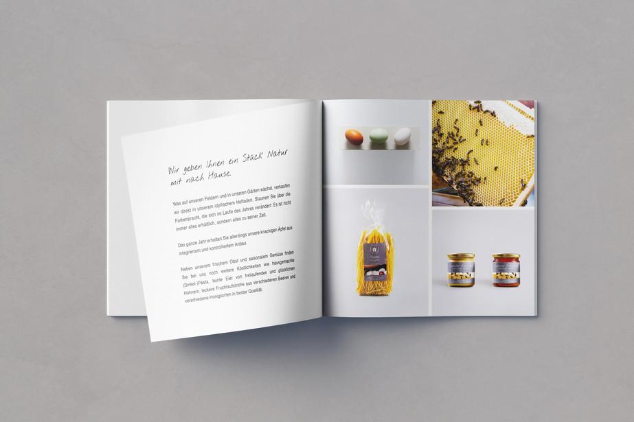 Editorial design Broschüre Innense