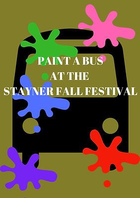 PAINT A BUSAT THE STAYNER FALL FESTIVAL.