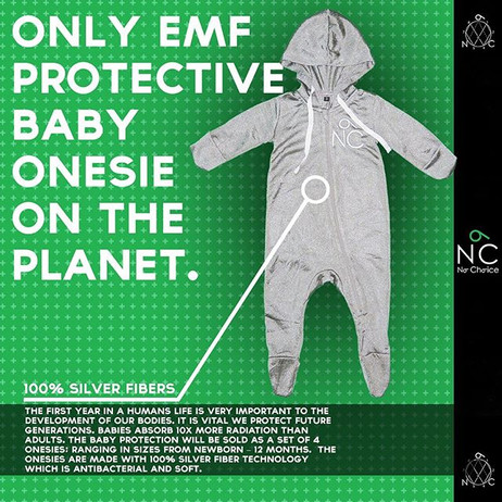 ONLY EMF BABY ONESIE ON THE PLANET