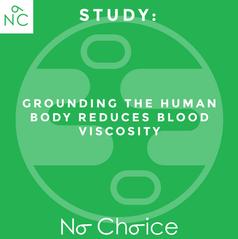 Grounding Study Reduces Blood Viscosity.