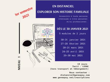 en distanciel : Niveau 1 - dès janvier 2021