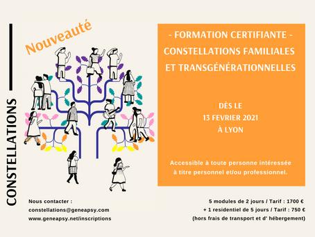 NOUVEAUTÉ : Constellations familiales et transgénérationnelles - session 2021